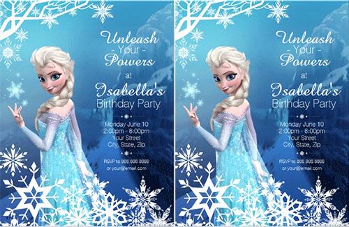Frozen Birthday Invitation Template Lovely Birthday Invitation Template 70 Free Psd format