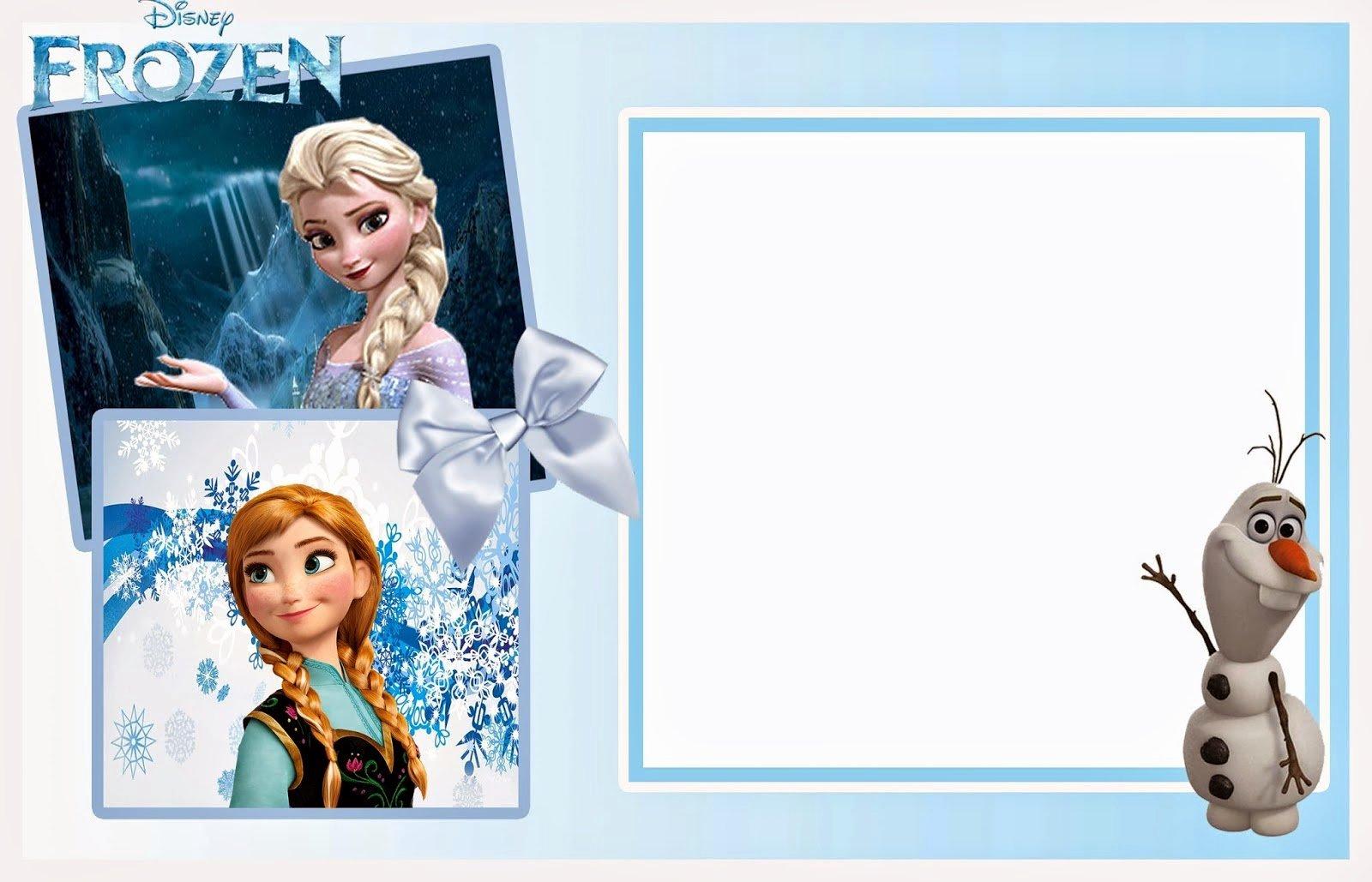 Frozen Birthday Invitation Template Lovely Frozen Invitation Template