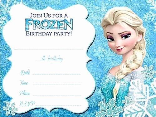 Frozen Birthday Invitation Template Luxury 16 Best Immagini Frozen Images On Pinterest