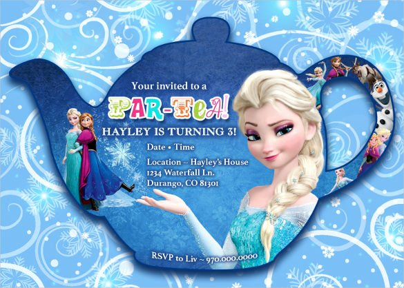 Frozen Birthday Invitation Template New 23 Frozen Birthday Invitation Templates Psd Ai Vector