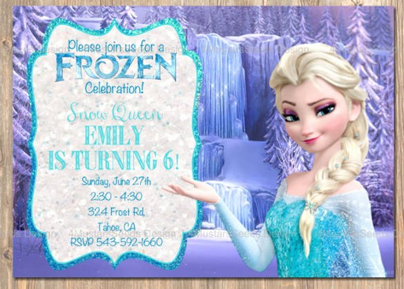 Frozen Birthday Invites Template Beautiful 12 Frozen Birthday Invitation Psd Ai Vector Eps