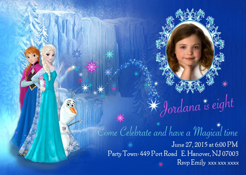 Frozen Birthday Invites Template Elegant Diy Print Frozen Invitations Frozen Birthday Invites Elsa