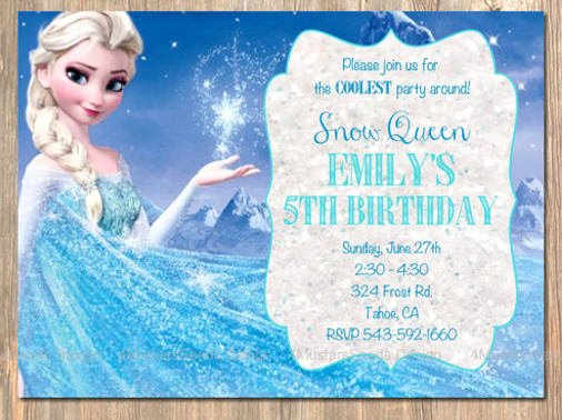 Frozen Birthday Invites Template Inspirational 12 Frozen Birthday Invitation Psd Ai Vector Eps