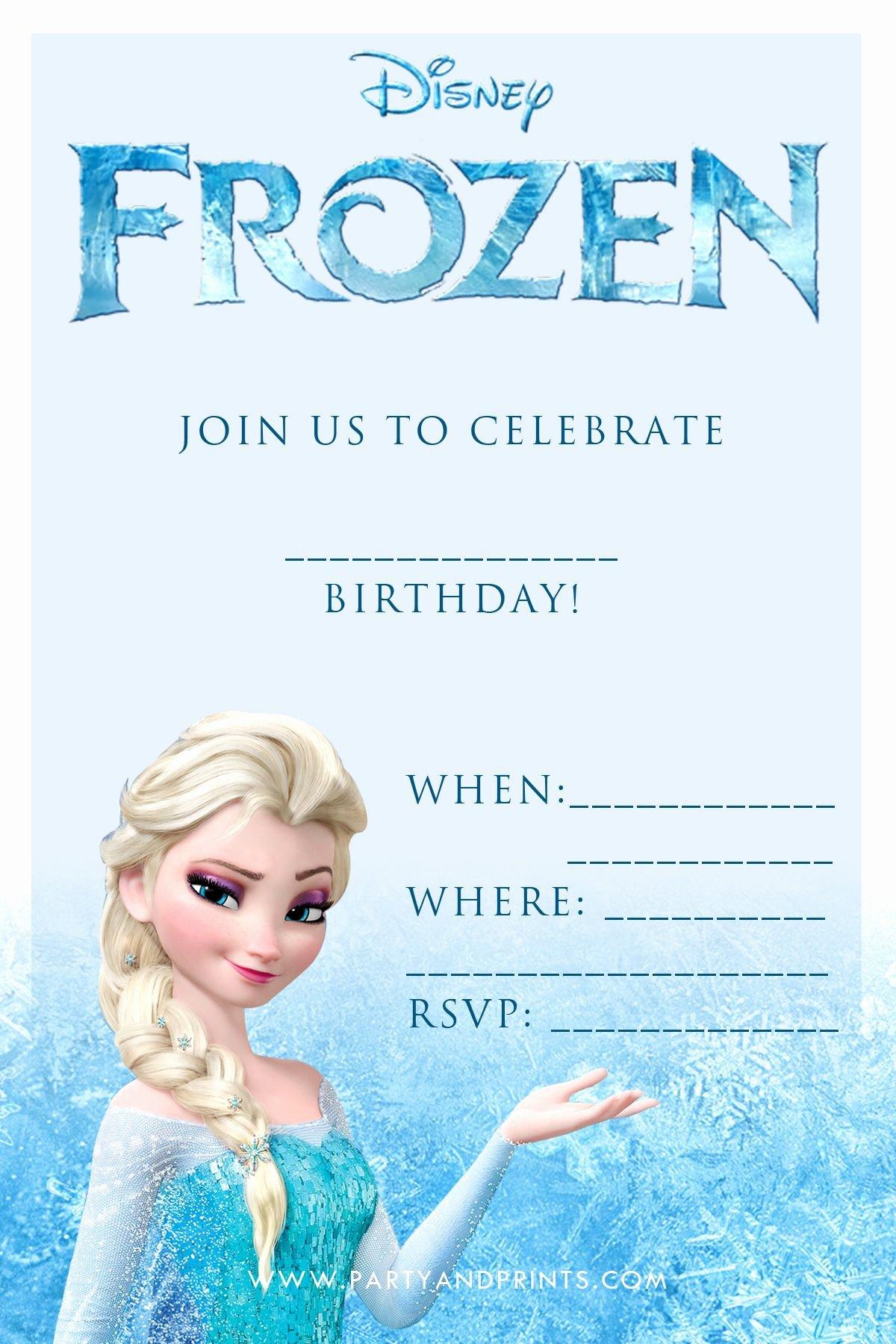 Frozen Birthday Invites Template Inspirational Free Frozen Invitation Birthday Ideas