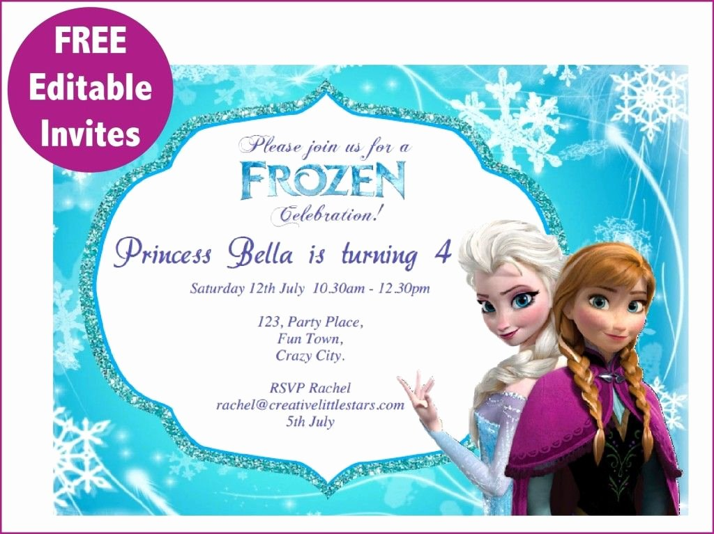 Frozen Birthday Invites Template Inspirational Frozen Free Printable Invitations Templates