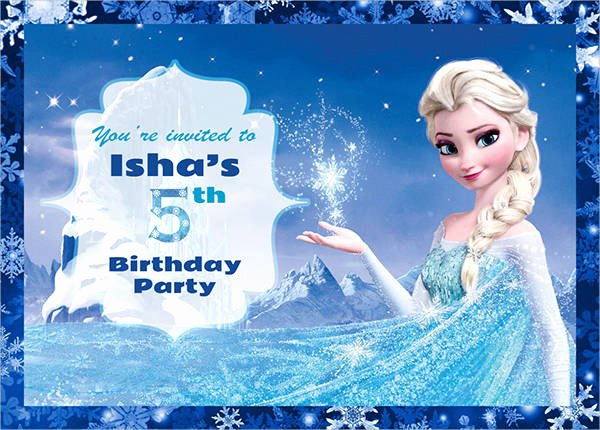 Frozen Birthday Invites Template Lovely 30 Free Invitation Template Download