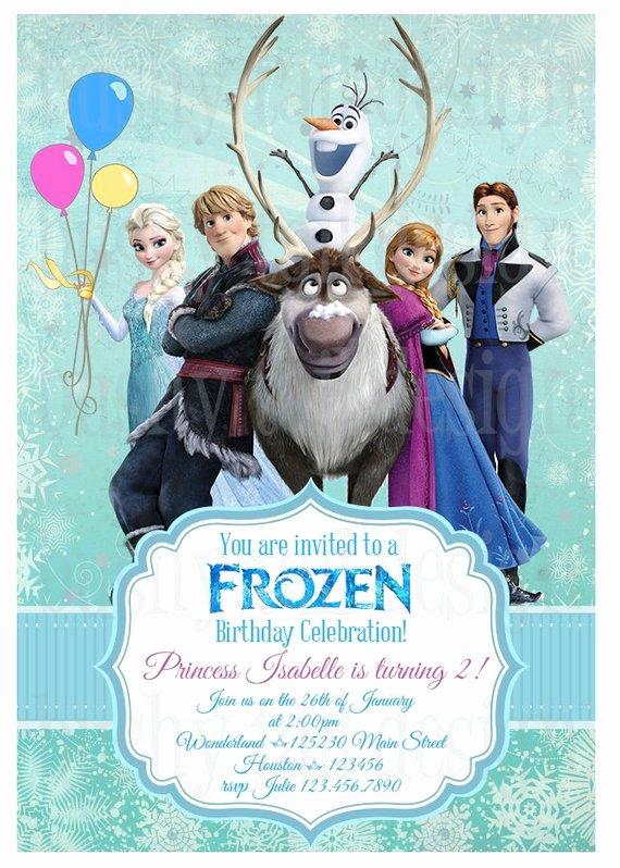 Frozen Birthday Invites Template Lovely Disney Frozen Birthday Invitation