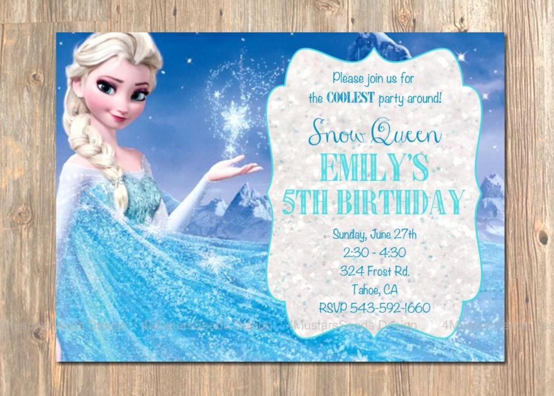 Frozen Birthday Invites Template Lovely Frozen Birthday Party Invitations