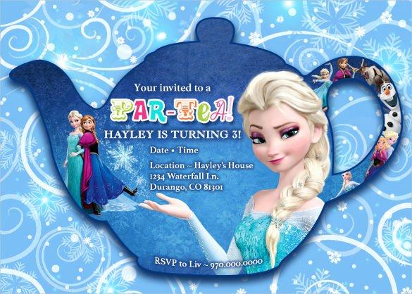 Frozen Birthday Invites Template Luxury 23 Frozen Birthday Invitation Templates Psd Ai Vector