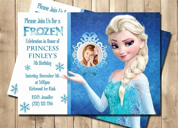 Frozen Birthday Invites Template Luxury Frozen Elsa Birthday Invitation Frozen Birthday Invitation
