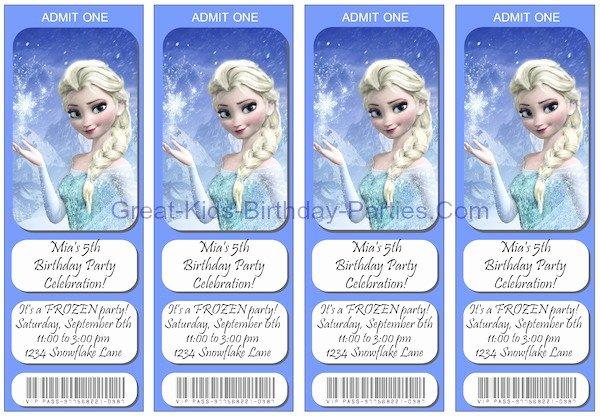 Frozen Birthday Invites Template Luxury Frozen Party