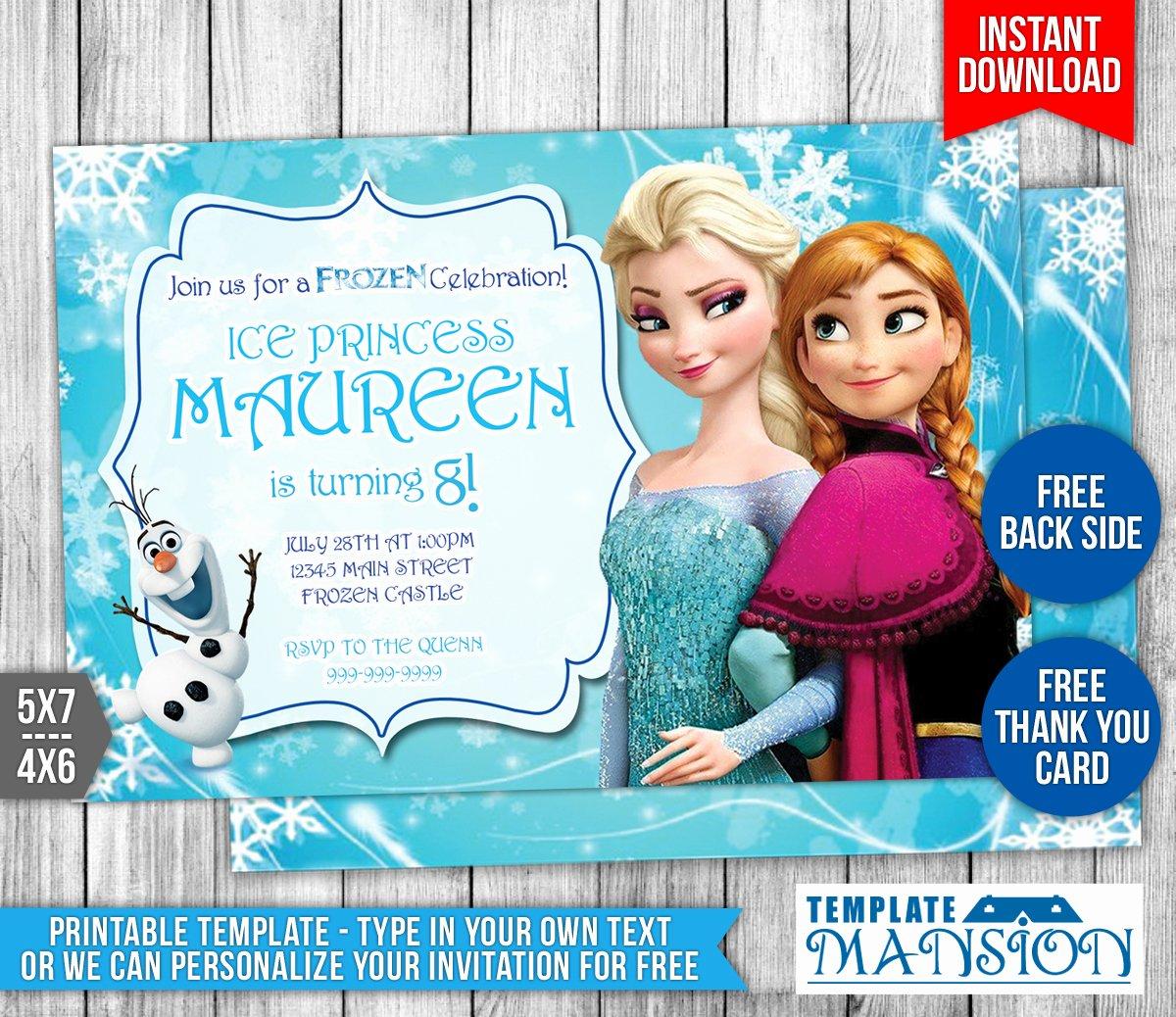 Frozen Birthday Invites Template New Disney Frozen Birthday Invitation 1 by Templatemansion On