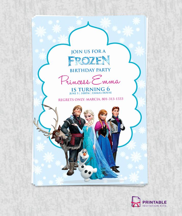 Frozen Birthday Invites Template New Free Frozen Birthday Invitation Template ← Wedding