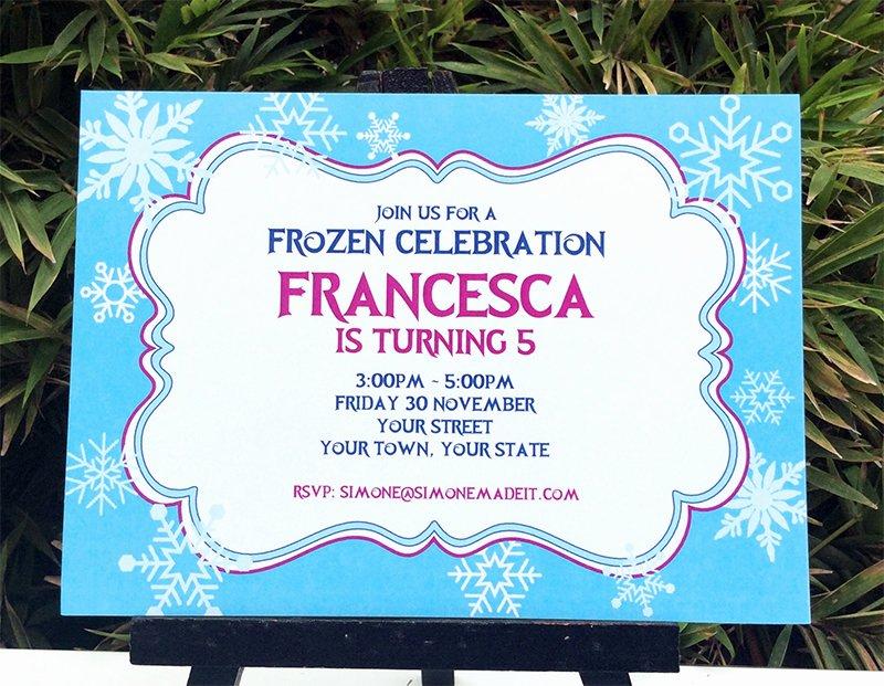 frozen birthday party printable templates theme