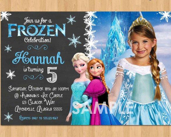 Frozen Birthday Invites Template Unique 12 Frozen Birthday Invitation Psd Ai Vector Eps