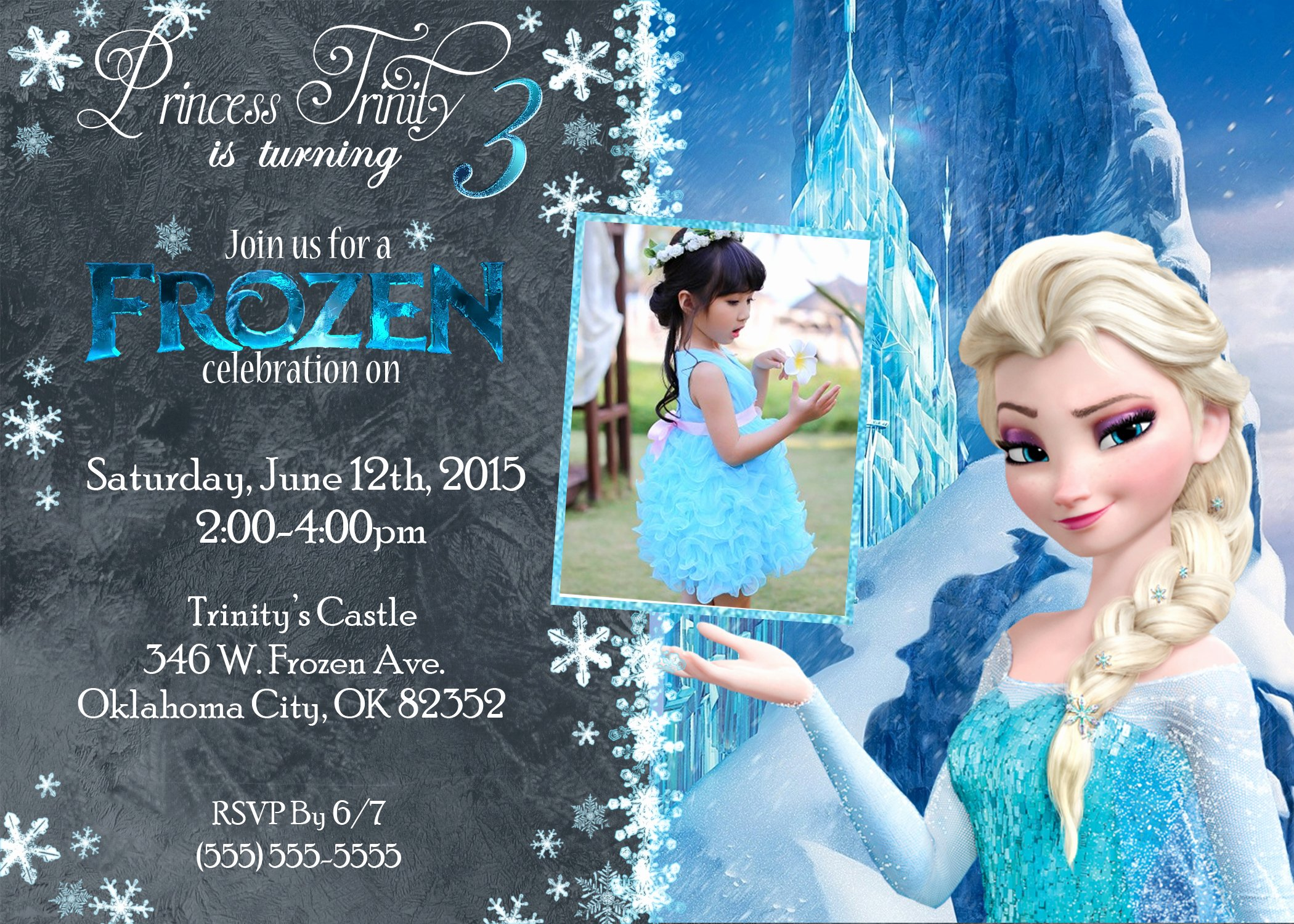 Frozen Birthday Invites Template Unique Frozen Birthday Invitations