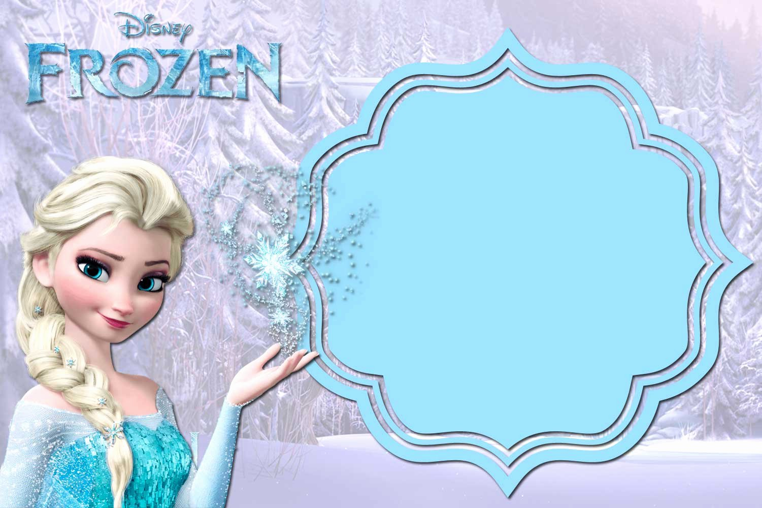 Frozen Invitation Template Free Awesome 24 Heartwarming Frozen Birthday Invitations