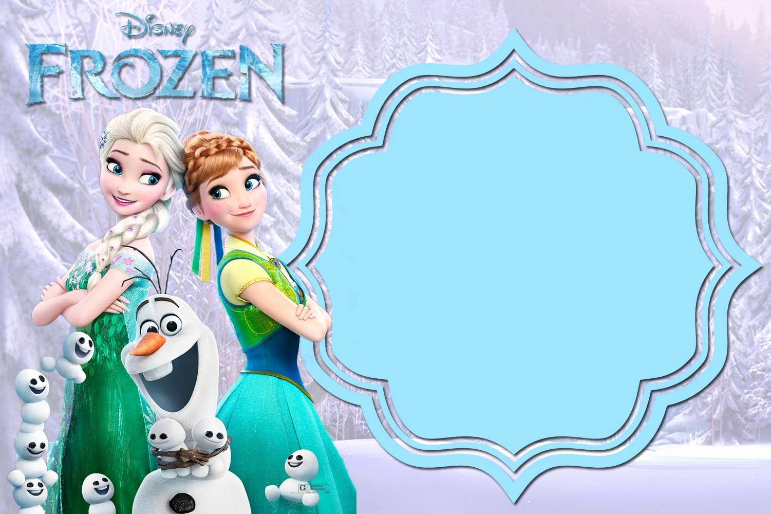 Frozen Invitation Template Free Awesome Free Printable Frozen Anna and Elsa Invitation Templates