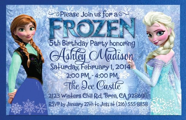 Frozen Invitation Template Free Awesome Frozen theme Invitations