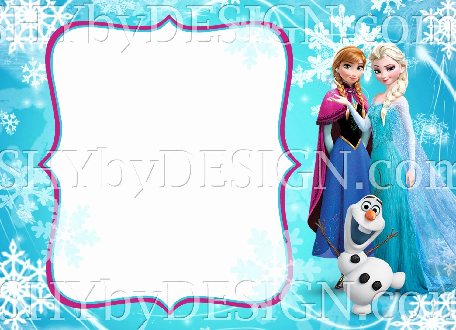 Frozen Invitation Template Free Beautiful Diy Frozen Invitation Template