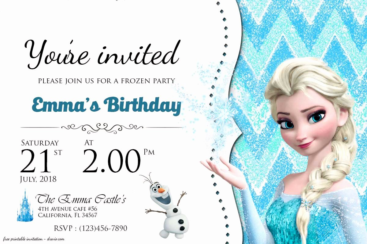 Frozen Invitation Template Free Beautiful Free Frozen Birthday Invitation Templates