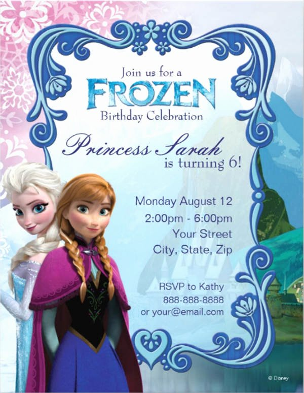 Frozen Invitation Template Free Best Of 9 Frozen Party Invitation Templates Free Editable Psd