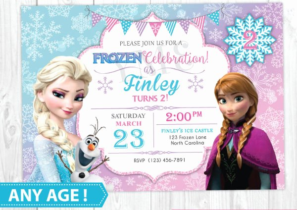Frozen Invitation Template Free Elegant 13 Frozen Invitation Templates Word Psd Ai