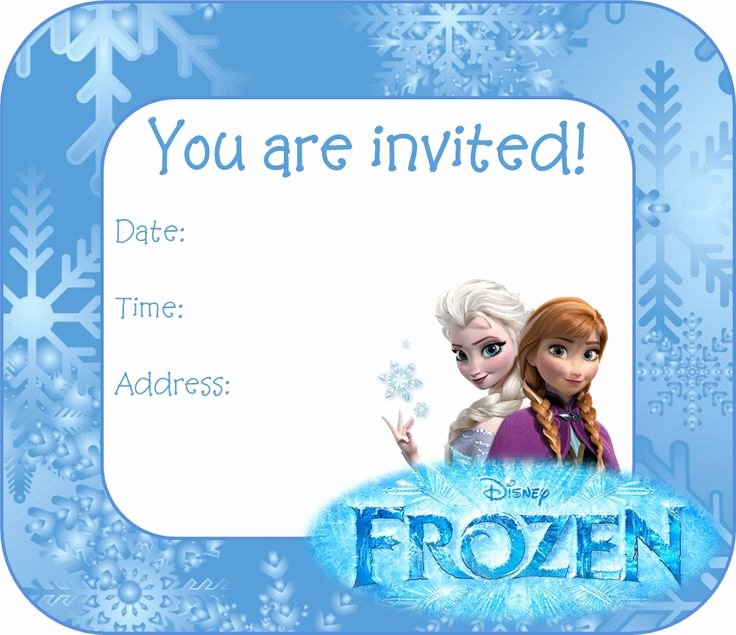 Frozen Invitation Template Free Elegant 25 Best Ideas About Free Frozen Invitations On Pinterest