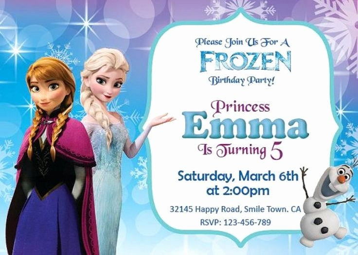 Frozen Invitation Template Free Elegant Party Invitation Templates Frozen Party Invitations