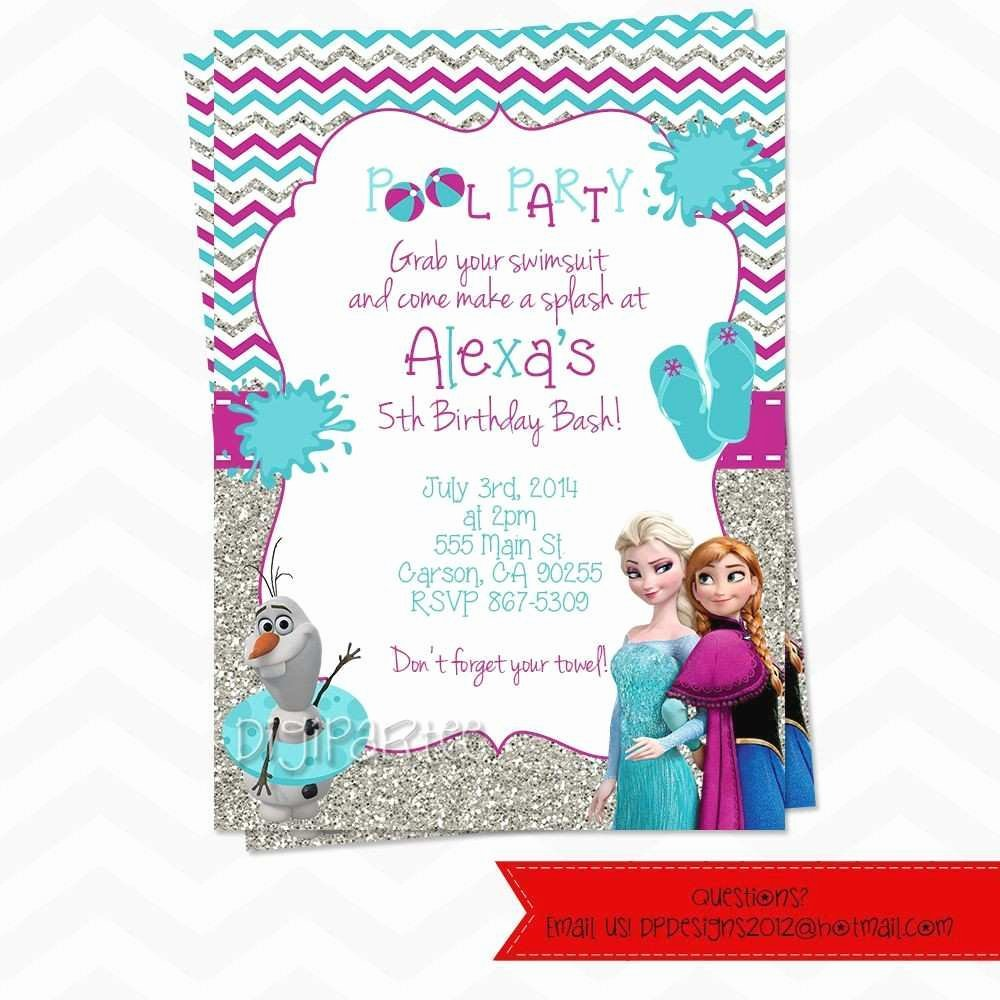 Frozen Invitation Template Free Fresh New Editable Frozen Birthday Invitations Templates Free