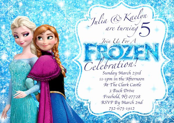 Frozen Invitation Template Free Inspirational 13 Frozen Invitation Templates Word Psd Ai