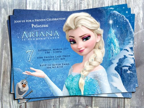 Frozen Invitation Template Free Luxury Disney Princess Frozen Elsa Birthday Party Printable