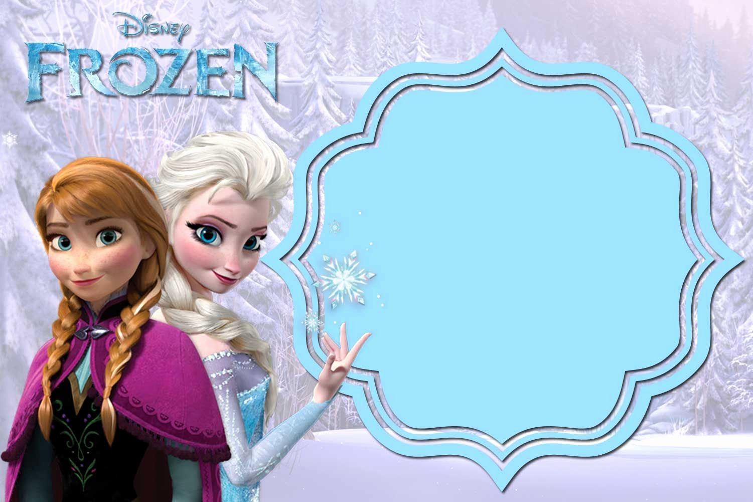 Frozen Invitation Template Free Luxury Free Printable Frozen Anna and Elsa Invitation