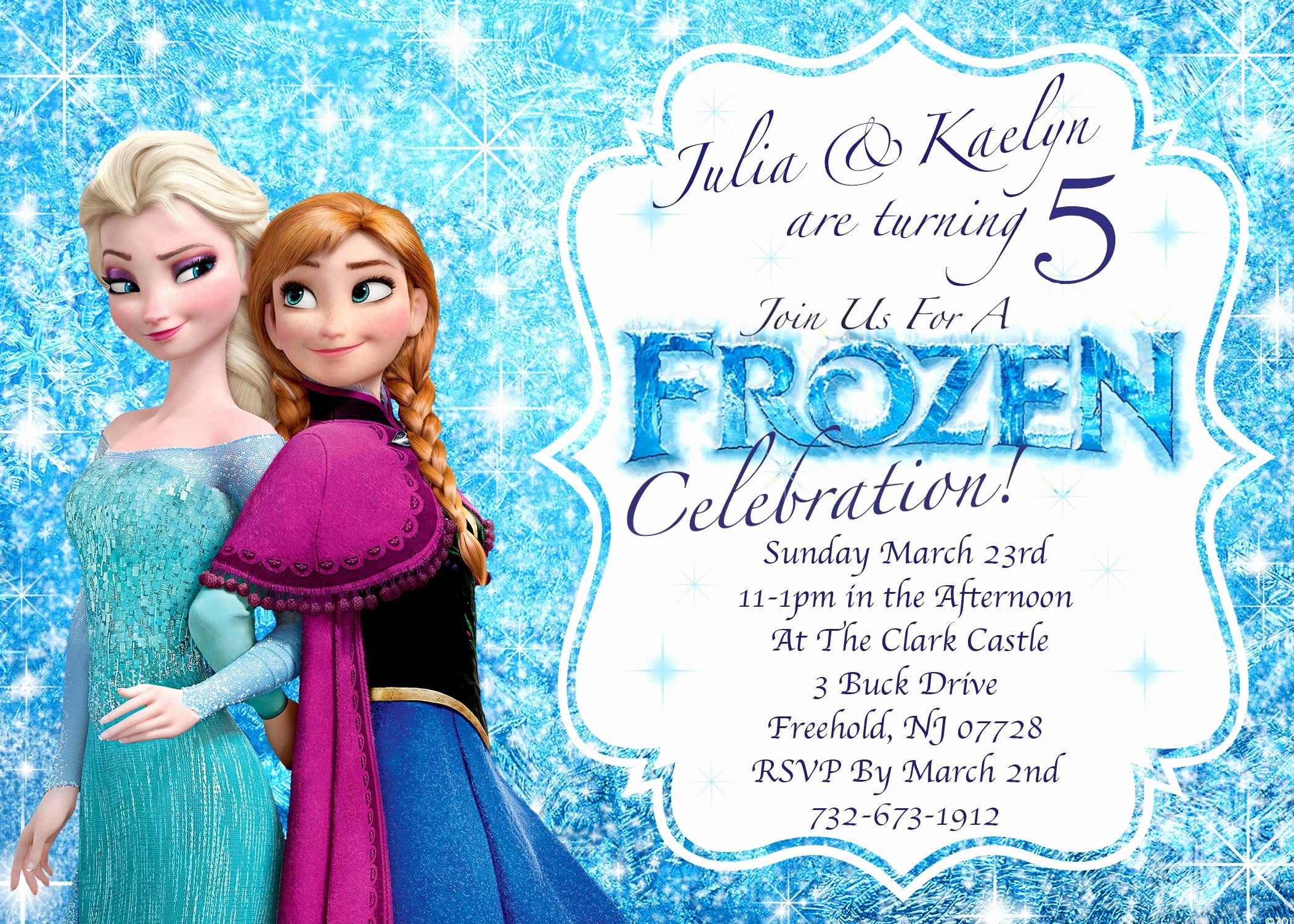 Frozen Invitation Template Free Unique Frozen Invitations