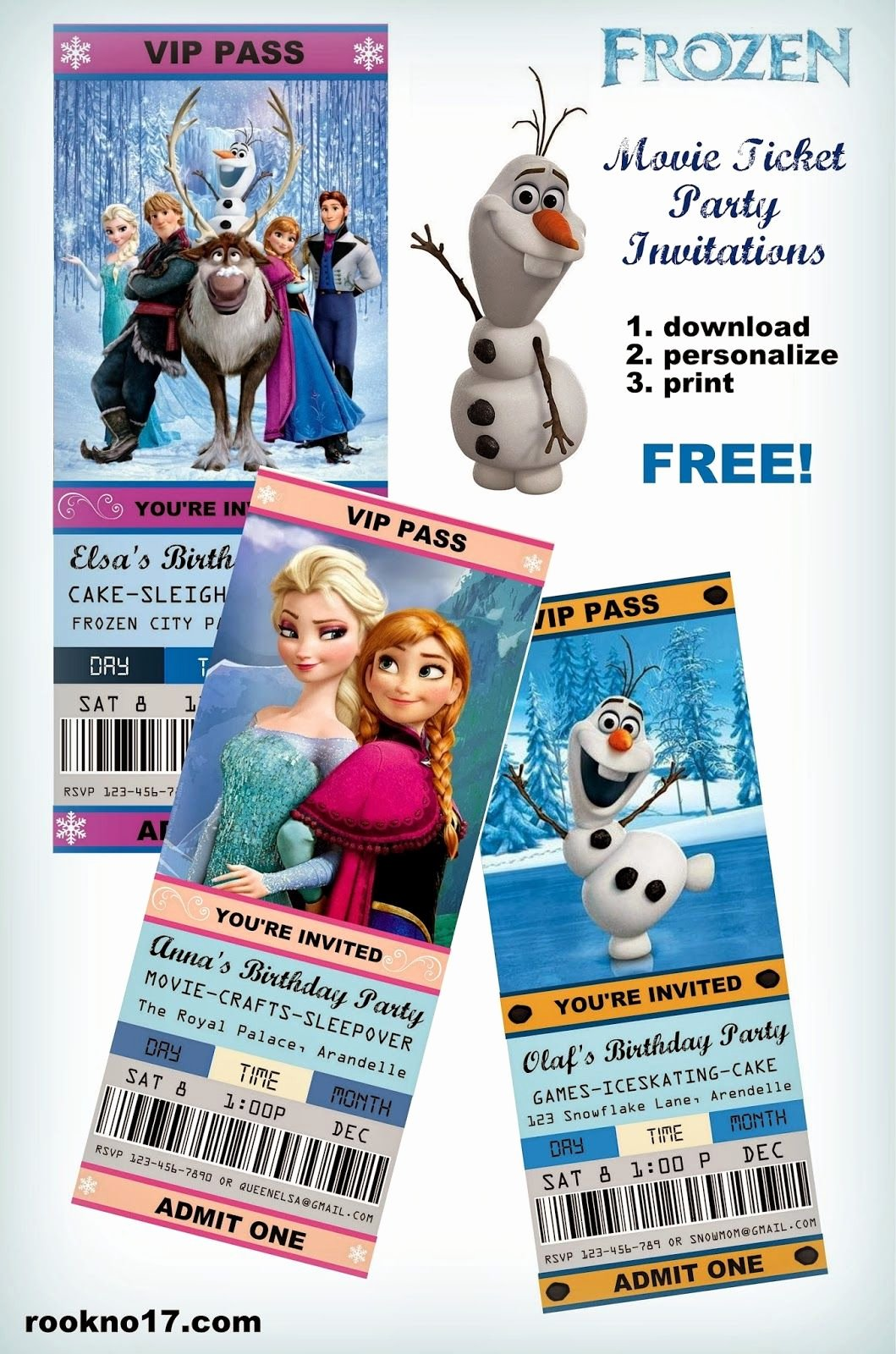 Frozen Invitations Template Free Awesome Free Frozen Invitations On Pinterest