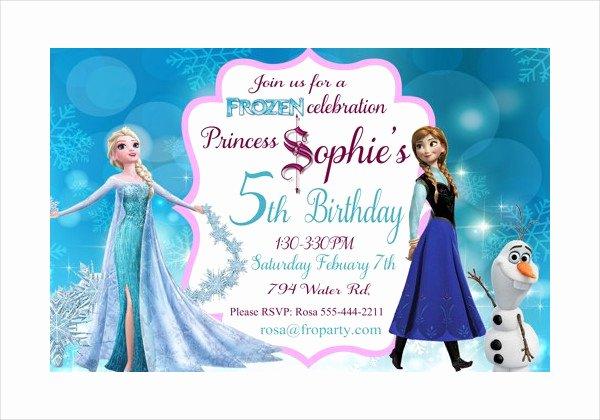 Frozen Invitations Template Free Beautiful 13 Frozen Invitation Templates Word Psd Ai
