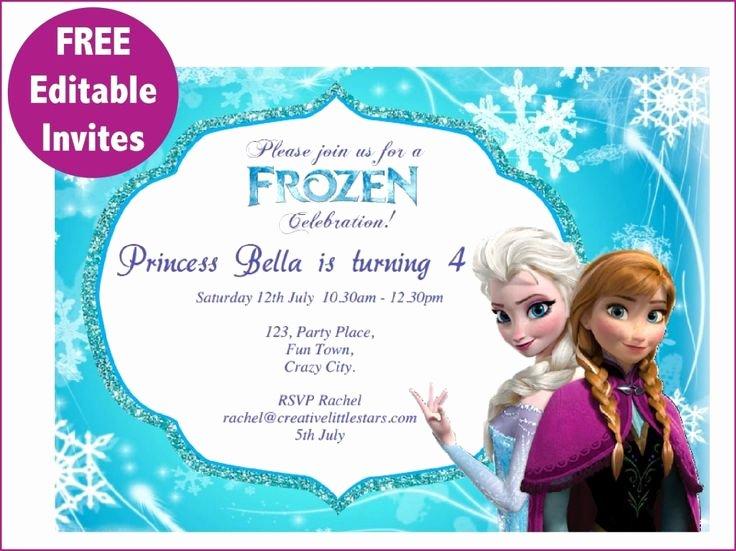Frozen Invitations Template Free Beautiful Best 25 Free Frozen Invitations Ideas On Pinterest