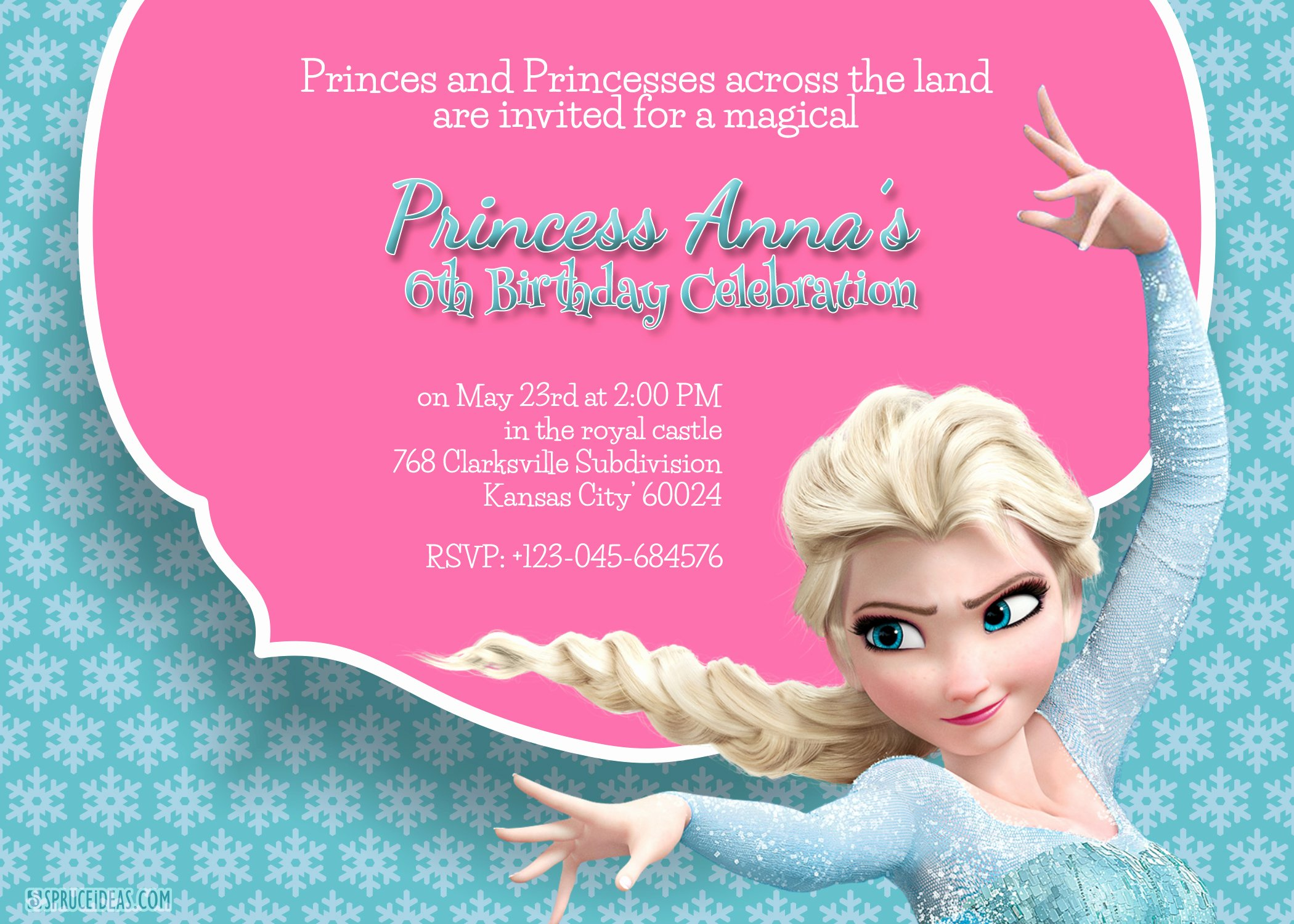 Frozen Invitations Template Free Fresh Free Printable Frozen Elsa Birthday Party Invitation Template