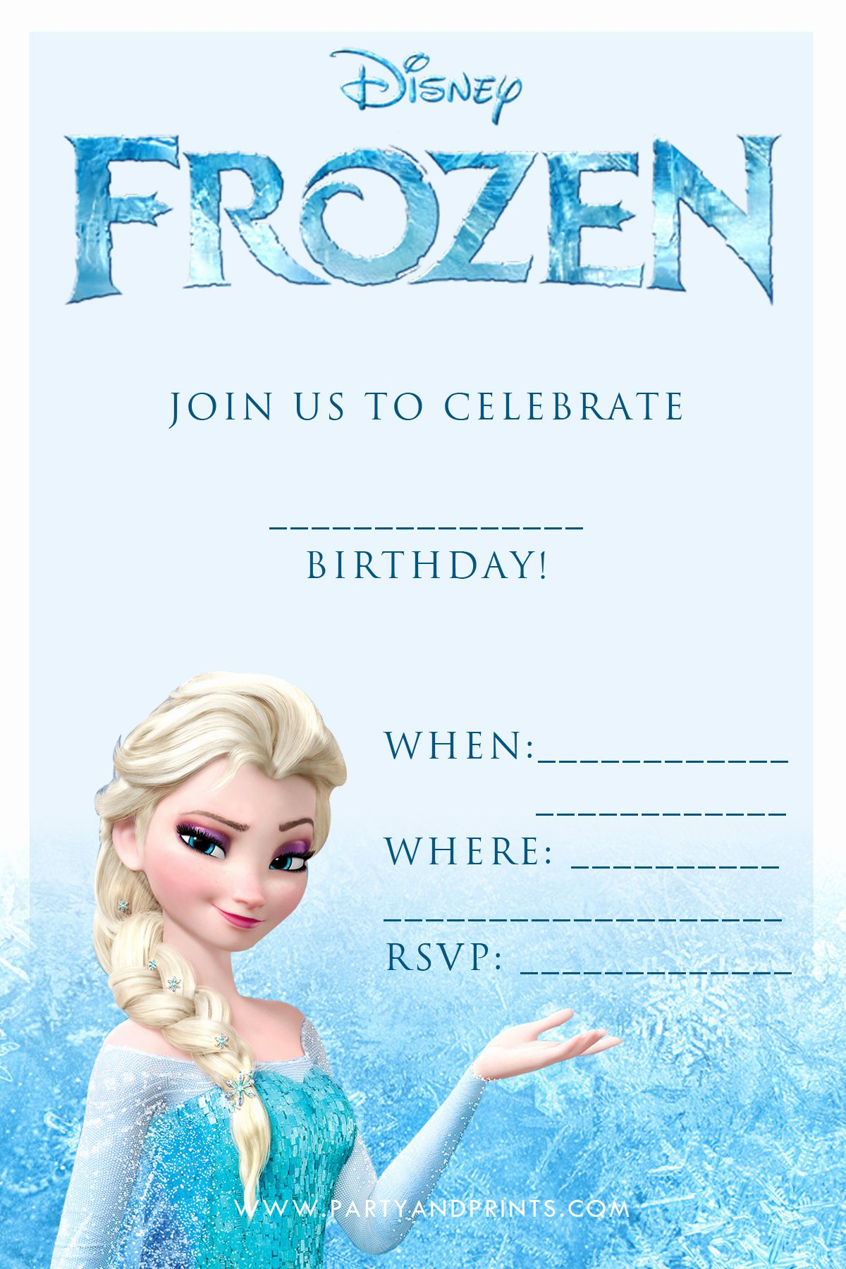 Frozen Invitations Template Free Lovely 20 Frozen Birthday Party Ideas