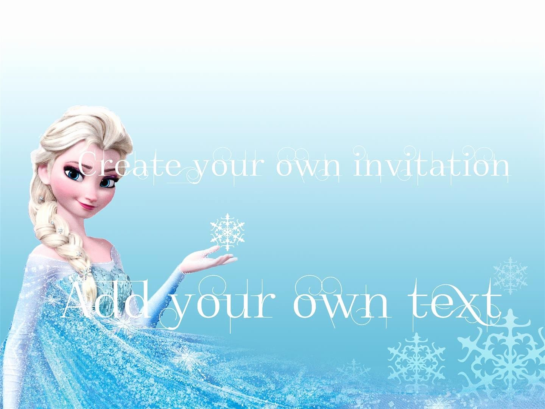 Frozen Invitations Template Free New Free Download Frozen Invitations