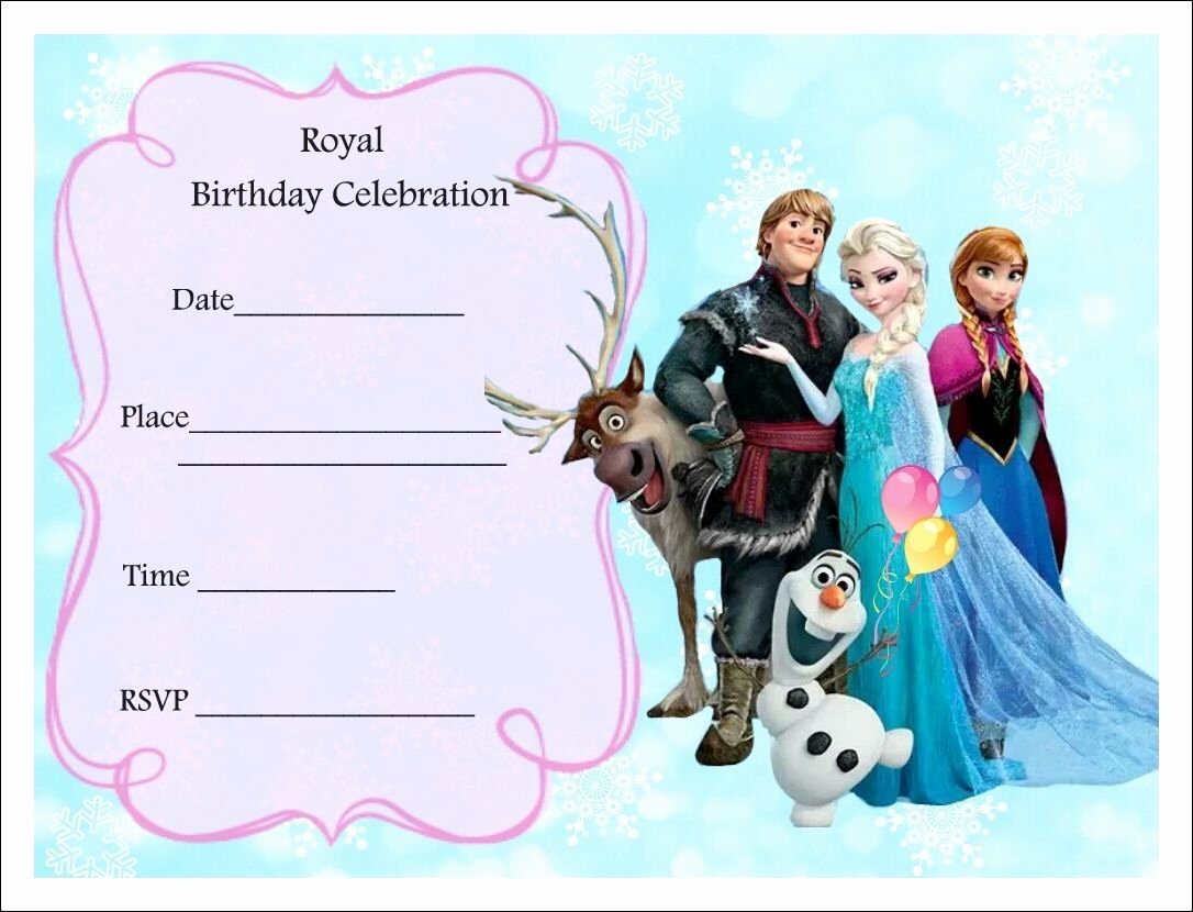 Frozen Invitations Template Free New Free Frozen Party Invitations Frozen Party