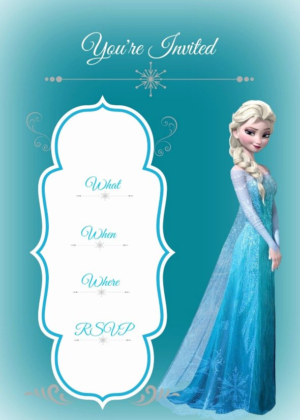 Frozen Invitations Template Free Unique 7 Best Of Frozen Birthday Party Invitation