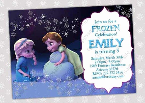 Frozen Invite Template Free Awesome 12 Frozen Birthday Invitation Psd Ai Vector Eps
