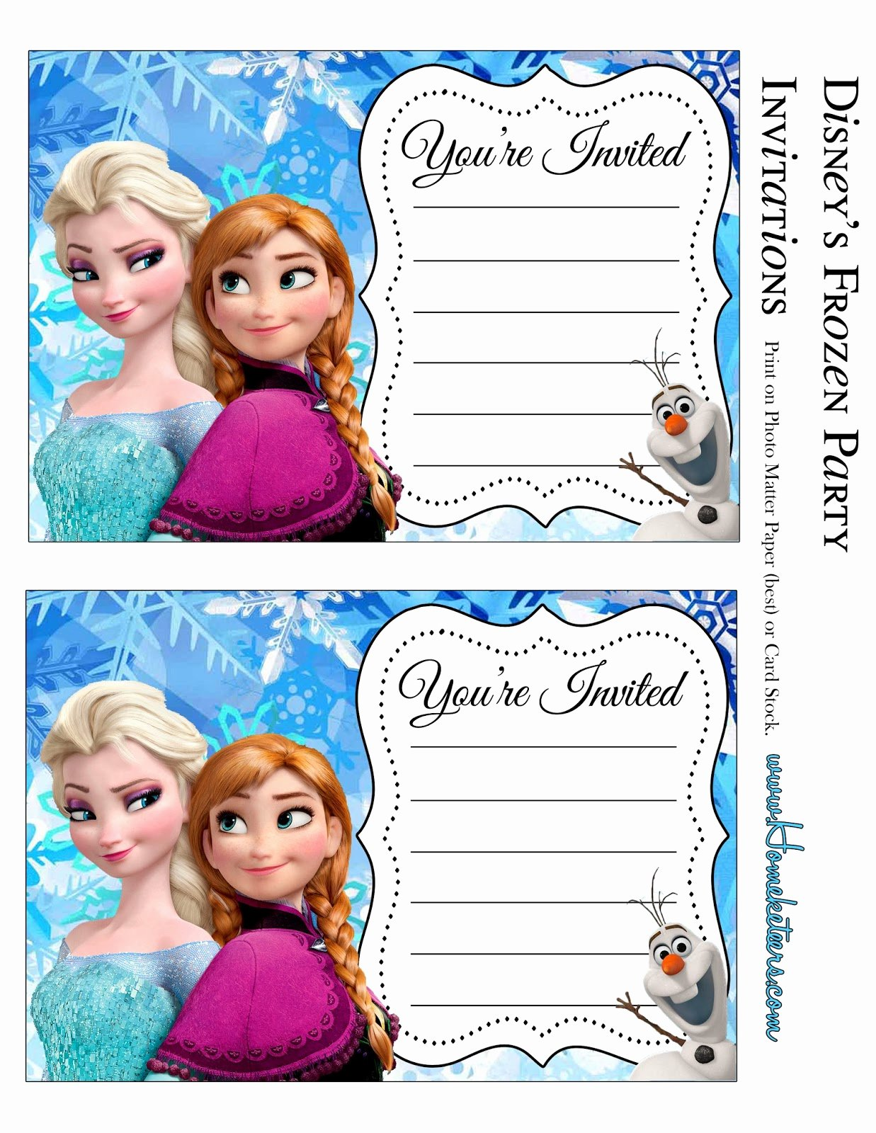 Frozen Invite Template Free Awesome Frozen Invitaciones Para Imprimir Gratis