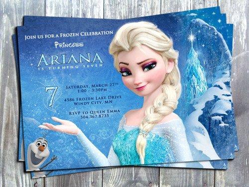 Frozen Invite Template Free Beautiful Disney Princess Frozen Elsa Birthday Party Printable