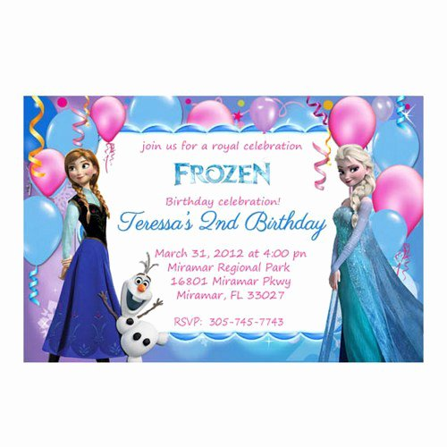 Frozen Invite Template Free Best Of Frozen Birthday Party Invitations Free Printable