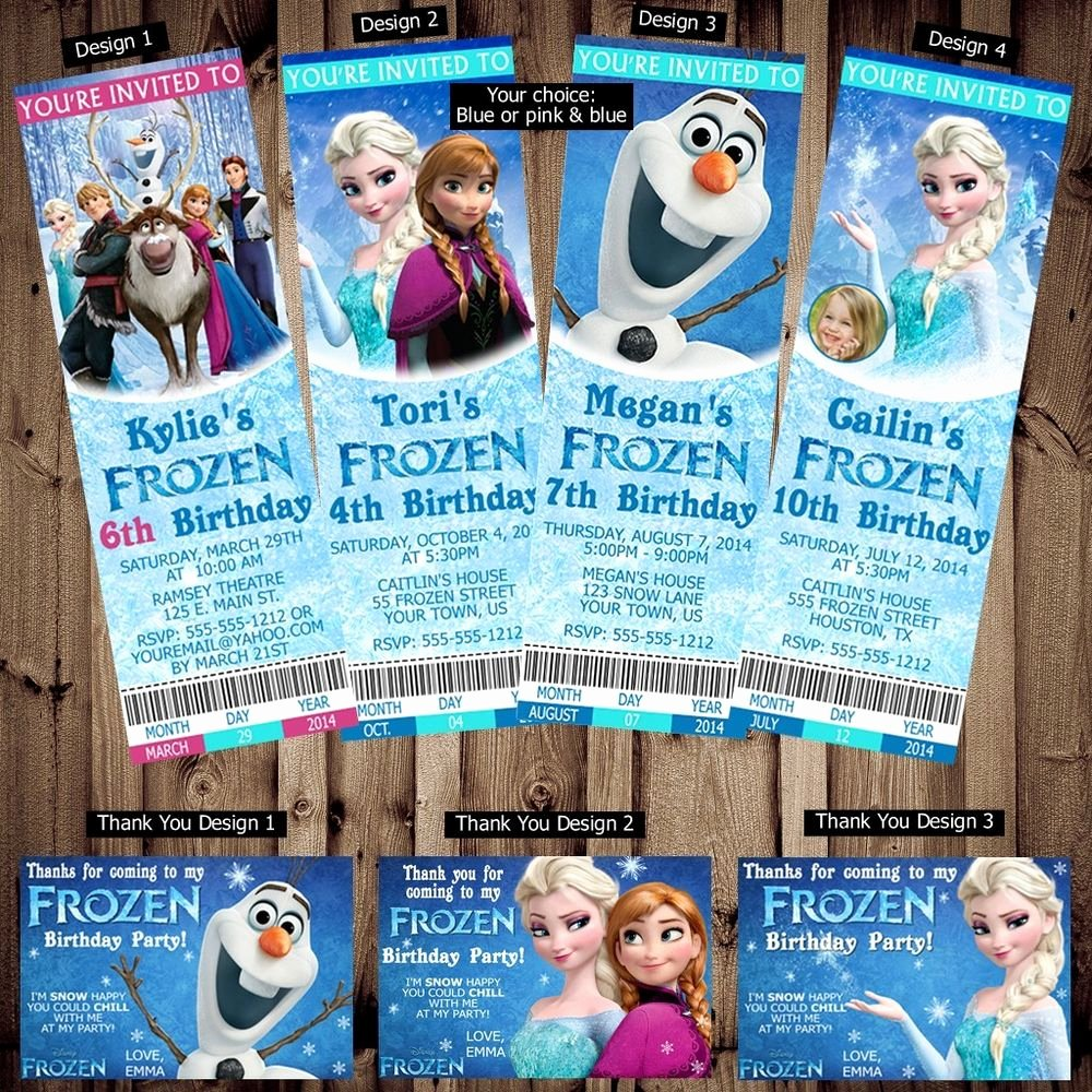 Frozen Invite Template Free Luxury Printed Personalized Disney Frozen Birthday Ticket