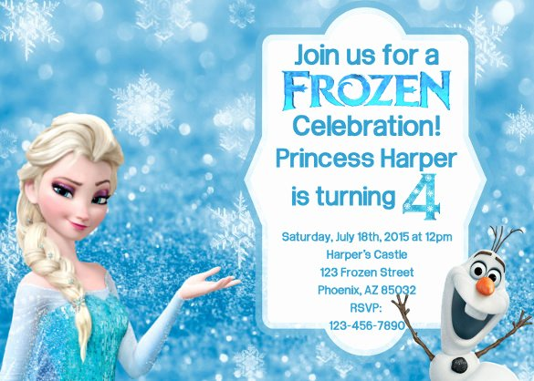 Frozen Invite Template Free New 12 Frozen Birthday Invitation Psd Ai Vector Eps