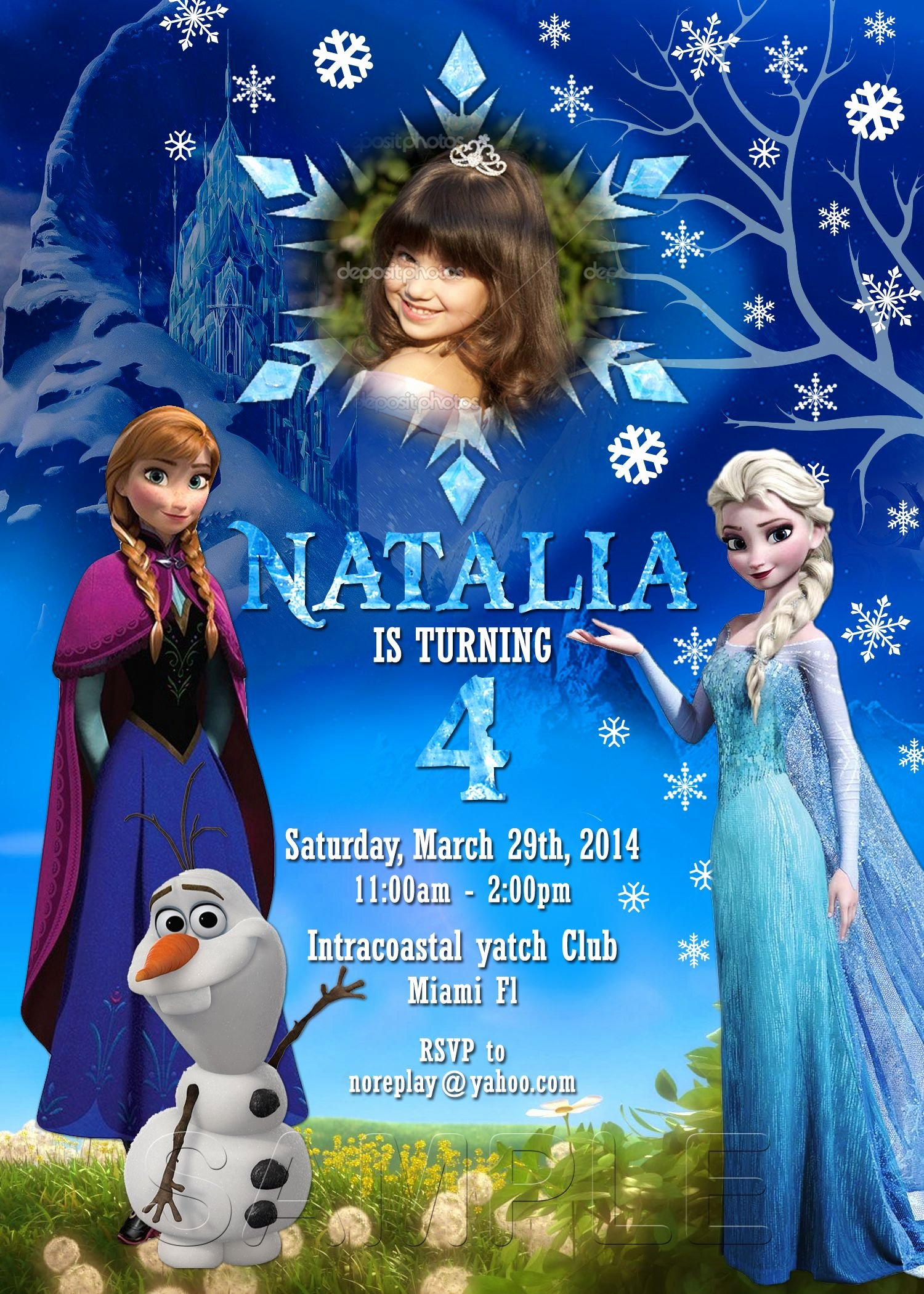 Frozen Invite Template Free New Free Dyi Photo Frozen Bday Invitation Templates Google