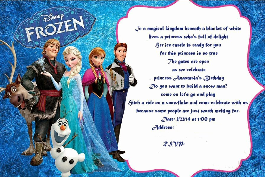 Frozen Invite Template Free New Frozen Birthday Invitation Ideas